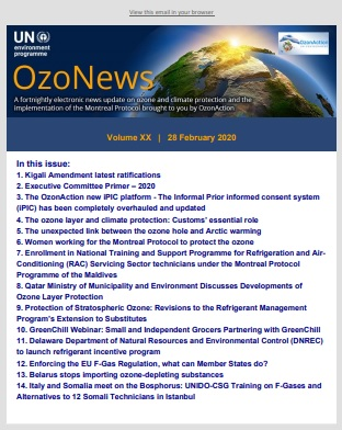 OzoNews, Volume XX, 28 February 2020 issue