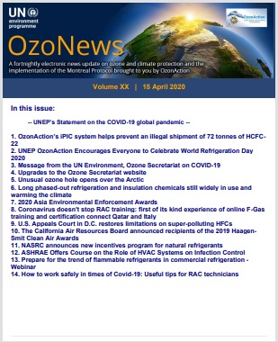 OzoNews, Volume XX,15 April 2020 issue