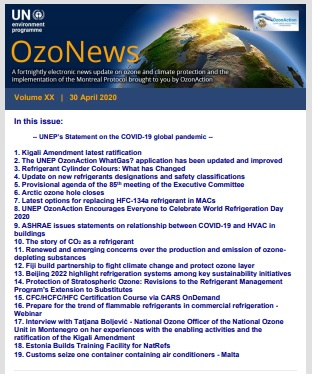OzoNews Volume XX, 30 April 2020 issue