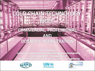 Cold chain technology brief