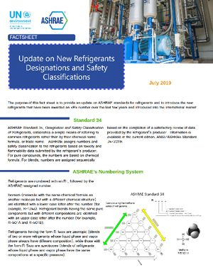 Update on New Refrigerants Designations and Safety Classifications