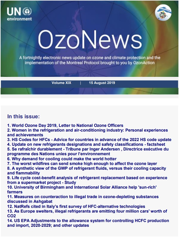 OzoNews, Volume XIX, 15 August 2019 issue