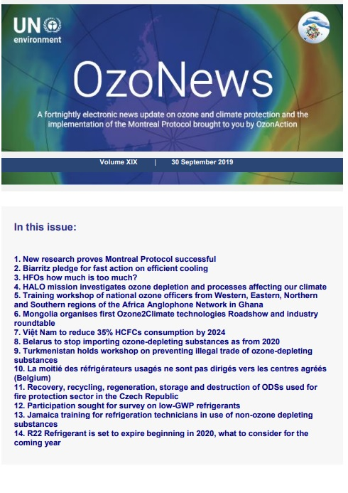 OzoNews, Volume XIX, 30 September 2019 issue