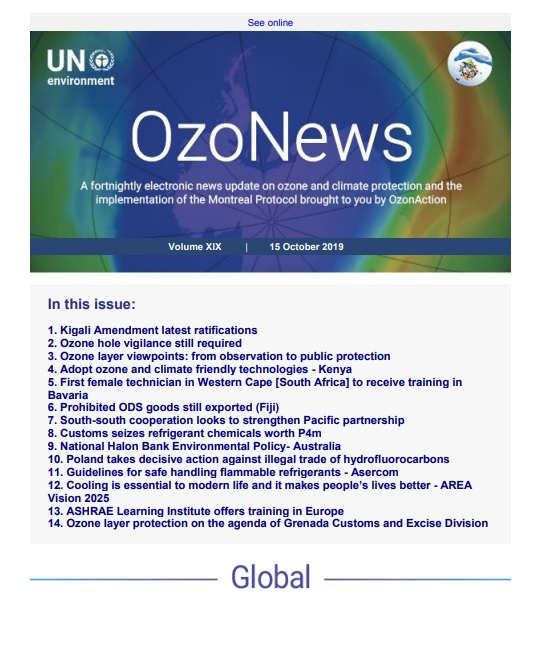 OzoNews, Volume XIX, 15 October 2019 issue