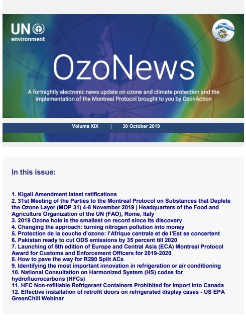 OzoNews, Volume XIX, 30 October 2019 issue