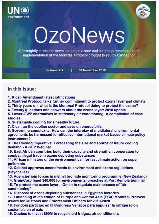 OzoNews, Volume XIX, 30 November 2019 issue