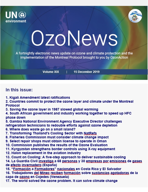 OzoNews, Volume XIX, 15 December 2019 issue