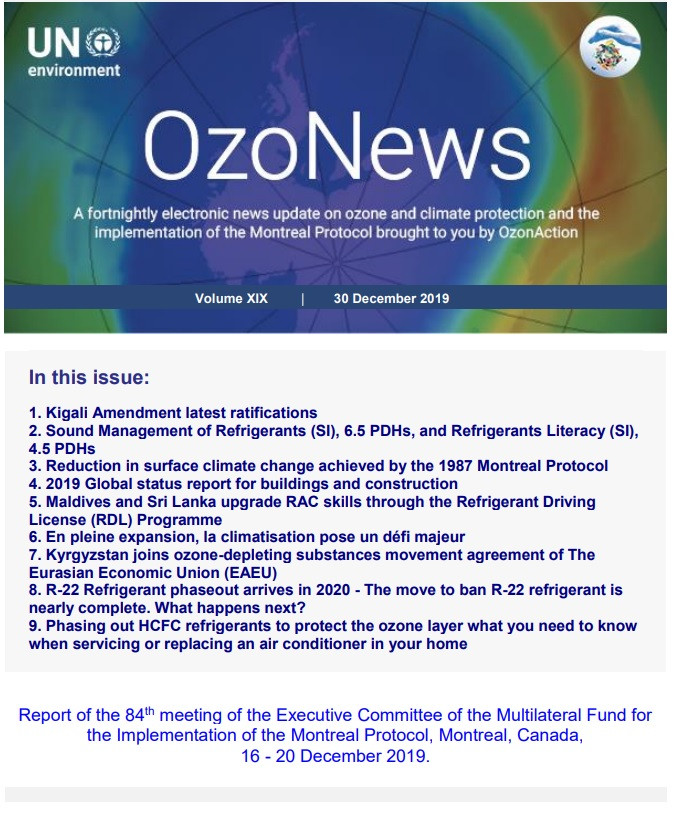 OzoNews,  Volume XIX, 30 December 2019 issue